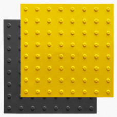 Тактильный указатель (плитка) конус в линейном порядке ПУ 500*500