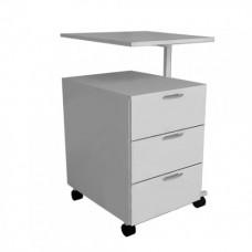 Тумба медицинская с поворотным столиком ТП 3/03 (3 ящик)